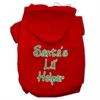 Mirage Pet Products Santa's Lil' Helper Screen Print Pet Hoodies Red Size Med (12)