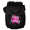 Mirage Pet Products Scribble Happy Holidays Screenprint Pet Hoodies Black Size XXL (18)