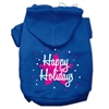 Mirage Pet Products Scribble Happy Holidays Screenprint Pet Hoodies Blue Size XS (8)