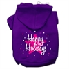 Mirage Pet Products Scribble Happy Holidays Screenprint Pet Hoodies Purple Size XS (8)