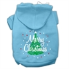 Mirage Pet Products Scribbled Merry Christmas Screenprint Pet Hoodies Baby Blue Size XS (8)