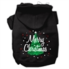 Mirage Pet Products Scribbled Merry Christmas Screenprint Pet Hoodies Black Size XS (8)