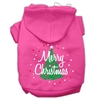 Mirage Pet Products Scribbled Merry Christmas Screenprint Pet Hoodies Bright Pink Size M (12)