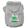 Mirage Pet Products Scribbled Merry Christmas Screenprint Pet Hoodies Grey Size XL (16)