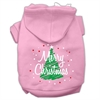 Mirage Pet Products Scribbled Merry Christmas Screenprint Pet Hoodies Light Pink Size XL (16)