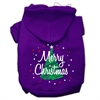 Mirage Pet Products Scribbled Merry Christmas Screenprint Pet Hoodies Purple Size S (10)