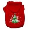 Mirage Pet Products Scribbled Merry Christmas Screenprint Pet Hoodies Red Size L (14)