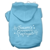 Mirage Pet Products Seasons Greetings Screen Print Pet Hoodies Baby Blue Size XXXL(20)