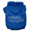 Mirage Pet Products Seasons Greetings Screen Print Pet Hoodies Blue Size S (10)