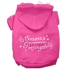 Mirage Pet Products Seasons Greetings Screen Print Pet Hoodies Bright Pink Size XS (8)