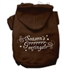 Mirage Pet Products Seasons Greetings Screen Print Pet Hoodies Brown Size XS (8)