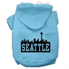Mirage Pet Products Seattle Skyline Screen Print Pet Hoodies Baby Blue Size XXXL (20)