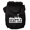 Mirage Pet Products Seattle Skyline Screen Print Pet Hoodies Black Size XL (16)