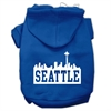 Mirage Pet Products Seattle Skyline Screen Print Pet Hoodies Blue Size XS (8)
