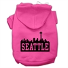 Mirage Pet Products Seattle Skyline Screen Print Pet Hoodies Bright Pink Size Sm (10)