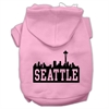 Mirage Pet Products Seattle Skyline Screen Print Pet Hoodies Light Pink Size Med (12)