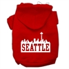 Mirage Pet Products Seattle Skyline Screen Print Pet Hoodies Red Size Sm (10)