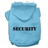 Mirage Pet Products Security Screen Print Pet Hoodies Baby Blue Size w/ Black Size text XL (16)