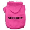 Mirage Pet Products Security Screen Print Pet Hoodies Bright Pink Size w/ Black Size text XS (8)