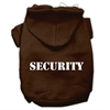 Mirage Pet Products Security Screen Print Pet Hoodies Brown Size XS (8)
