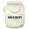 Mirage Pet Products Security Screen Print Pet Hoodies Cream Size w/ Black Size text XL (16)