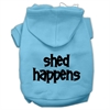 Mirage Pet Products Shed Happens Screen Print Pet Hoodies Baby Blue Size XS (8)
