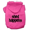Mirage Pet Products Shed Happens Screen Print Pet Hoodies Bright Pink Size XXL (18)