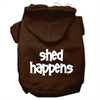 Mirage Pet Products Shed Happens Screen Print Pet Hoodies Brown Size Sm (10)