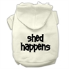 Mirage Pet Products Shed Happens Screen Print Pet Hoodies Cream Size XS (8)