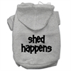 Mirage Pet Products Shed Happens Screen Print Pet Hoodies Grey Size XXL (18)