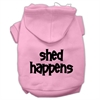 Mirage Pet Products Shed Happens Screen Print Pet Hoodies Light Pink Size Sm (10)