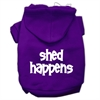 Mirage Pet Products Shed Happens Screen Print Pet Hoodies Purple Size Sm (10)