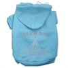 Mirage Pet Products Shimmer Christmas Tree Pet Hoodies Baby Blue Size Med (12)