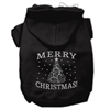 Mirage Pet Products Shimmer Christmas Tree Pet Hoodies Black Size XL (16)