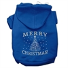 Mirage Pet Products Shimmer Christmas Tree Pet Hoodies Blue Size XS (8)