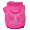 Mirage Pet Products Shimmer Christmas Tree Pet Hoodies Bright Pink Size Sm (10)