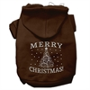 Mirage Pet Products Shimmer Christmas Tree Pet Hoodies Brown Size Med (12)