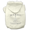 Mirage Pet Products Shimmer Christmas Tree Pet Hoodies Cream Size XS (8)