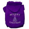 Mirage Pet Products Shimmer Christmas Tree Pet Hoodies Purple Size Sm (10)