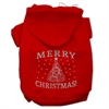 Mirage Pet Products Shimmer Christmas Tree Pet Hoodies Red Size Med (12)