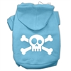 Mirage Pet Products Skull Crossbone Screen Print Pet Hoodies Baby Blue Size Med (12)