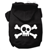 Mirage Pet Products Skull Crossbone Screen Print Pet Hoodies Black Size XS (8)
