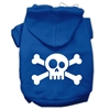 Mirage Pet Products Skull Crossbone Screen Print Pet Hoodies Blue Size Sm (10)
