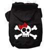 Mirage Pet Products Skull Crossbone Bow Screen Print Pet Hoodies Black Size XS (8)
