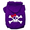 Mirage Pet Products Skull Crossbone Bow Screen Print Pet Hoodies Purple Size Lg (14)