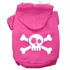 Mirage Pet Products Skull Crossbone Screen Print Pet Hoodies Bright Pink Size Sm (10)