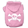 Mirage Pet Products Skull Crossbone Screen Print Pet Hoodies Light Pink Size Lg (14)