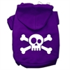 Mirage Pet Products Skull Crossbone Screen Print Pet Hoodies Purple Size Sm (10)