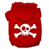 Mirage Pet Products Skull Crossbone Screen Print Pet Hoodies Red Size XL (16)