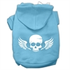 Mirage Pet Products Skull Wings Screen Print Pet Hoodies Baby Blue Size Med (12)